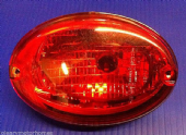 HELLA OVAL RED REAR FOG LIGHT WITH BULB LAMP MOTORHOME VAN